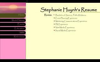 Stephanie Huynh's Resume