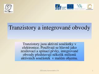 Tranzistory a integrované obvody