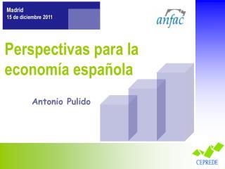 Perspectivas para la economía española