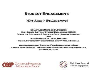 Student Engagement: Why Aren't We Listening?