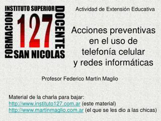 Actividad de Extensión Educativa