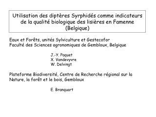 Eaux et Forêts, unités Sylviculture et Gestecofor