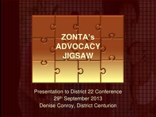 ZONTA's ADVOCACY JIGSAW