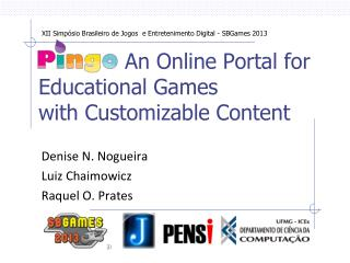 Pingo  -  An  Online Portal for Educational Games with Customizable Content