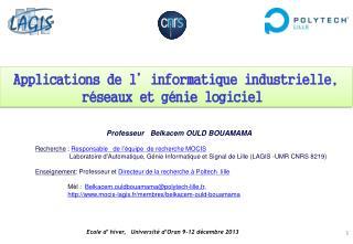Ecole d' hiver,   Université d'Oran 9-12 décembre 2013