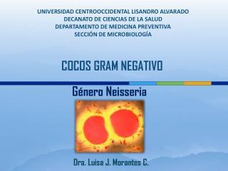 UNIVERSIDAD CENTROOCCIDENTAL LISANDRO ALVARADO DECANATO DE CIENCIAS DE LA SALUD