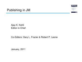 Publishing in JM