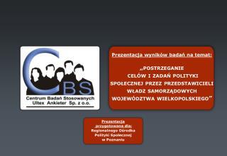 Prezentacja  przygotowana dla: Regionalnego Ośrodka  Polityki Społecznej  w Poznaniu