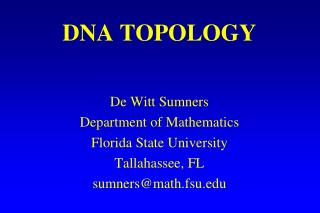 DNA TOPOLOGY