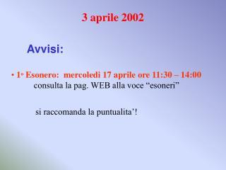 3 aprile 2002