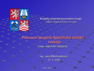 Krajský úřad Karlovarského kraje odbor regionálního rozvoje