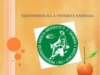 Geotermálna aveterná energia