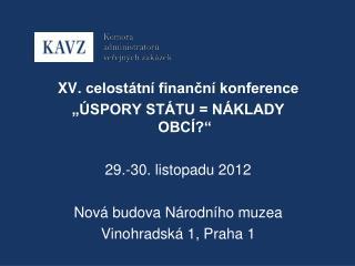 XV . celostátní finanční konference