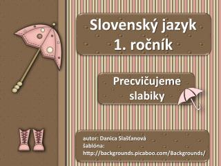 Slovenský jazyk 1. ročník