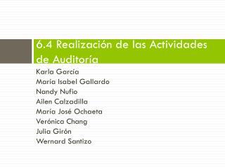 6.4  Realización  de  las Actividades  de  Auditoría