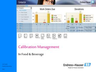 Calibration Management