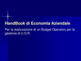 HandBook di Economia Aziendale