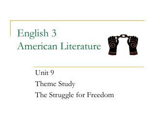 English 3  American Literature