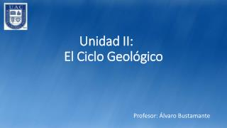 Unidad II: El  Ciclo  Geológico
