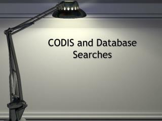 CODIS and Database Searches