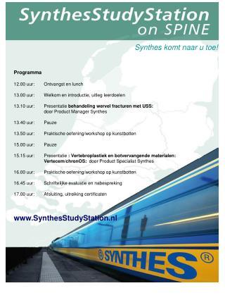 Synthes komt naar u toe!
