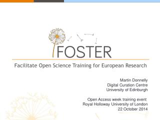Facilitate Open Science Training for European Research