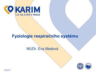 Fyziologie respiračního systému