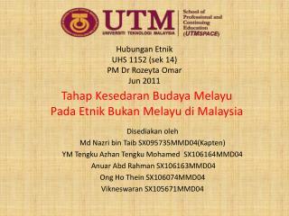 Hubungan Etnik UHS 1152 ( sek  14) PM Dr  Rozeyta  Omar Jun 2011