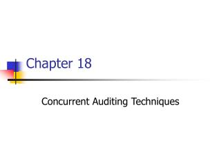 Concurrent Auditing Techniques