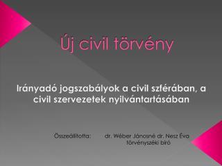 Új civil törvény
