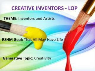 CREATIVE INVENTORS - LOP