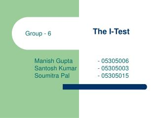 The I-Test