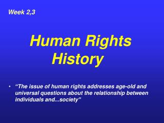a brief history of human rights pdf