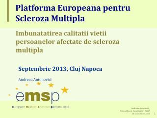 Platforma Europeana pentru Scleroza Multipla
