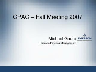 CPAC – Fall Meeting 2007