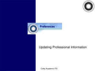 Updating Professional Information