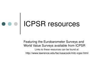 ICPSR resources