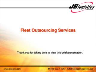 Fleet Outsourcing Services