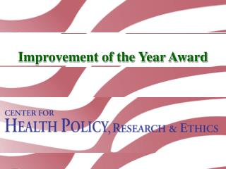 Improvement of the Year Award