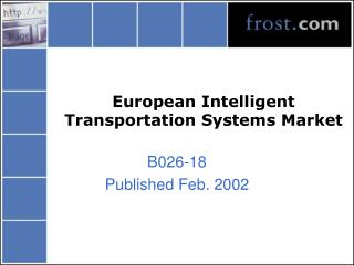 European Intelligent Transportation Systems Market