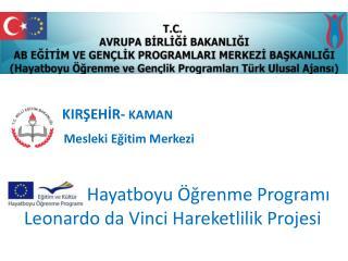 KIRŞEHİR-  KAMAN Mesleki Eğitim Merkezi