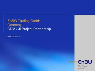 EnBW Trading GmbH, Germany CDM
