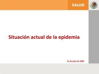 Situación actual de la epidemia