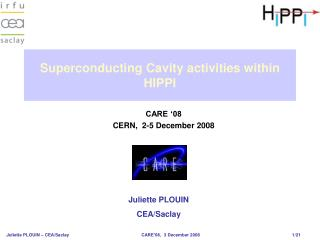Superconducting Cavity activities within HIPPI