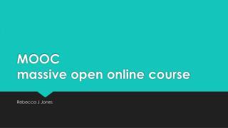MOOC massive open online course