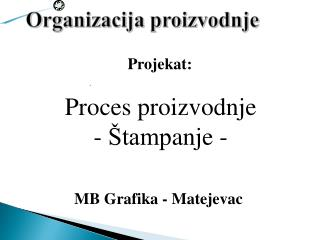 Projekat :
