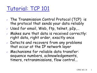 Tutorial: TCP 101