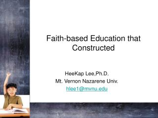 Faith-based Education that Constructed