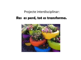 Projecte interdisciplinar: