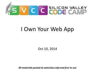I Own Your Web App